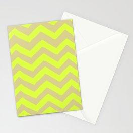 CHARTRUESE CHEVRON PRINT Stationery Cards