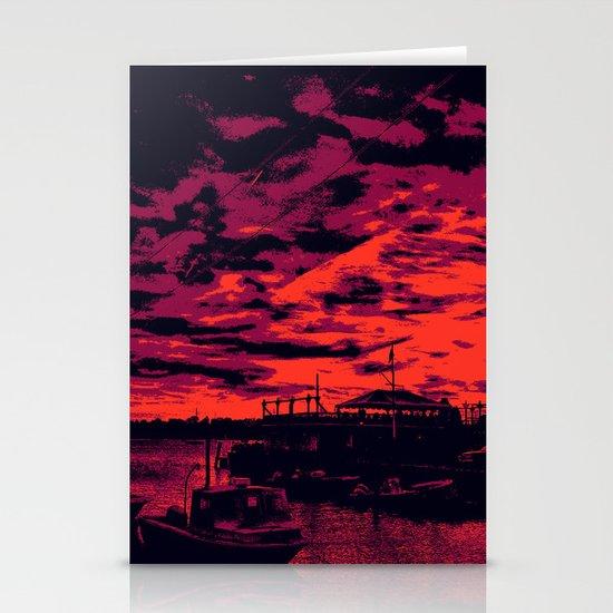 Sunset Over Bristol Harbor 2 Stationery Cards