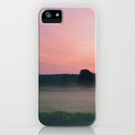 Pink countryside sunset iPhone Case
