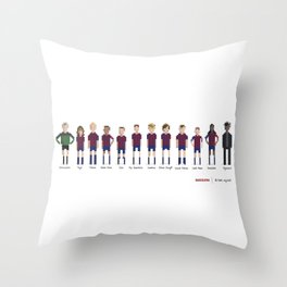 Barcelona - All-time squad Throw Pillow