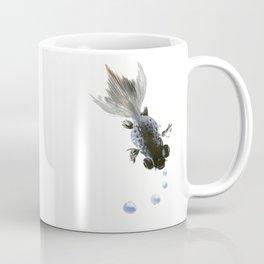 Black Fish, feng shui zen brush minimalist ink art design Coffee Mug