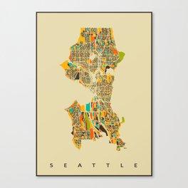 Seattle map Canvas Print
