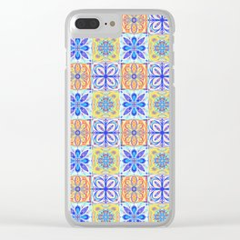 Patterned Tiles no 2 Clear iPhone Case