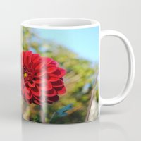 dahlia Mugs featuring Dahlia by Renee Trudell