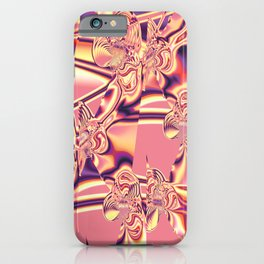 Pink fractal. iPhone Case