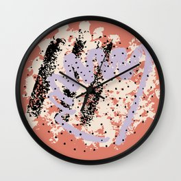Hand drawn abstract design. Brushstrokes Wall Clock