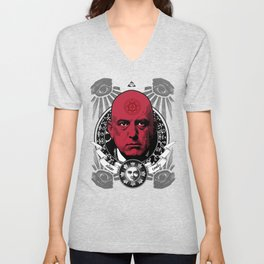 Aleister Crowley T-Shirts by LosFutbolko Unisex V-Neck