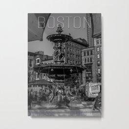 A Gleam of Sunshine - Boston Common Fountain Metal Print