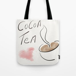 For the Love of Cocoa Tea Tote Bag