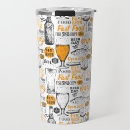 Beer Pattern   Oktoberfest Hops Malt Brewery Travel Mug