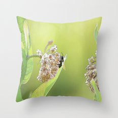 Blooming in the Morning Throw Pillow