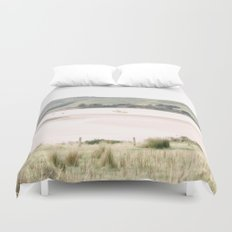 Boats on the water (color) Duvet Cover