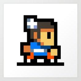 Minimalistic Chun-Li - Pixel Art Art Print