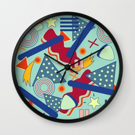 Retro abstract art Wall Clock