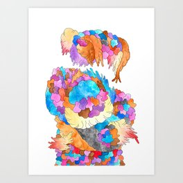 Clusters 1 Art Print