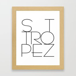 St. Tropez, jetset holidayplace in the South of France at the Mediterranean Framed Art Print