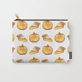 Pumpkin Pie Pattern Fall Watercolor Carry-All Pouch