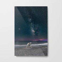 Milky Way Digital Print, Star Galaxy Poster, Night Sky Photography, Starry Sky Printable, Greece Art Metal Print