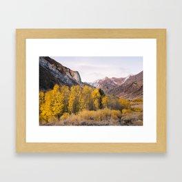 McGee Creek Fall Colors Framed Art Print
