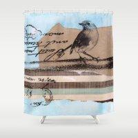 birdy Shower Curtains featuring Birdy by zAcheR-fineT