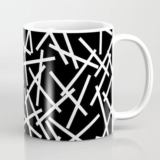 Kerplunk Black and White Mug