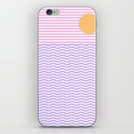 Coastline (Sunset Pink) iPhone Skin