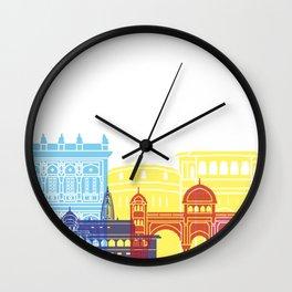 Pune skyline pop Wall Clock