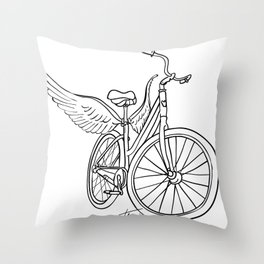 Dream Bike Throw Pillow