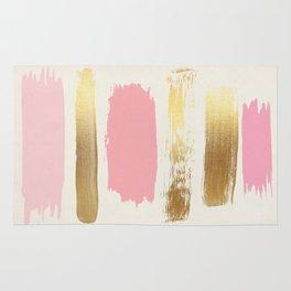 Brush Strokes (Rose/Gold) Rug