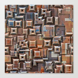 3D Digital Circuitry Canvas Print
