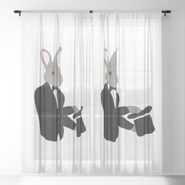 Rabbit Magician Sheer Curtain