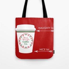 Christmas Naughty Nice Coffee Cup Tote Bag