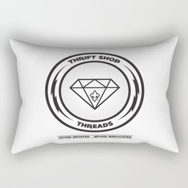 Thrift Shop Threads Button_Diamond Rectangular Pillow