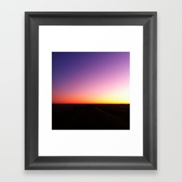 Sunset Painting Framed Art Print