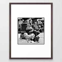 Gypsy Street Musician Framed Art Print
