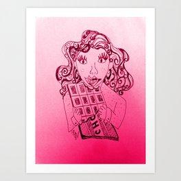 Chocolate, a girls best friend Art Print