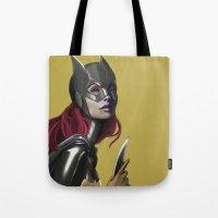batgirl Tote Bags featuring BATGIRL by corverez