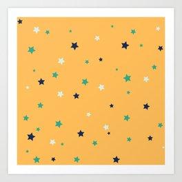 Autumn - Autumn Colored Stars Art Print