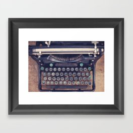 qwerty Framed Art Print
