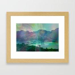 STAY FOREVER BAY Framed Art Print