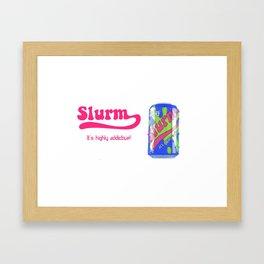 future ad Slurm Framed Art Print