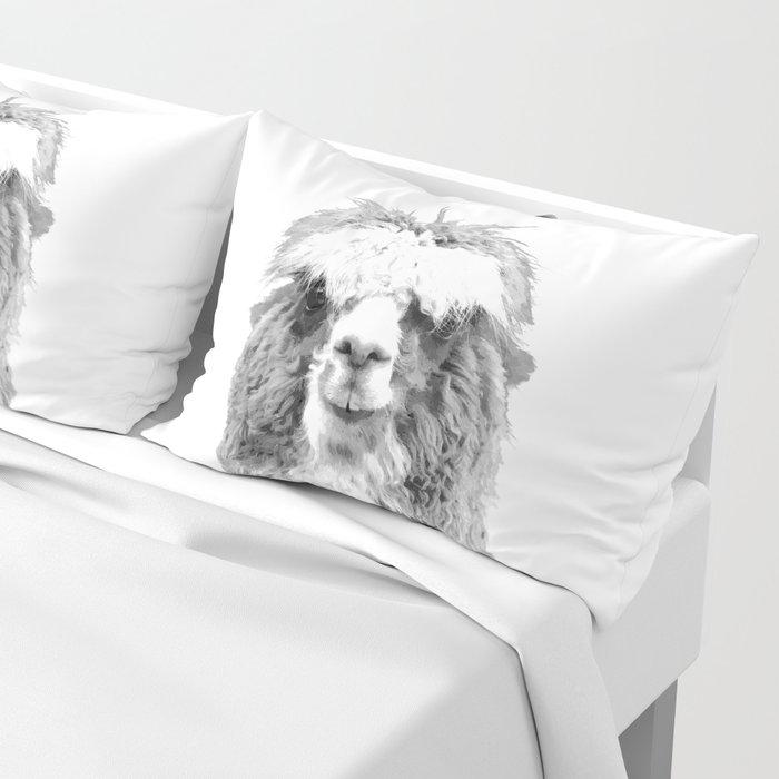 Black and White Alpaca Pillow Sham