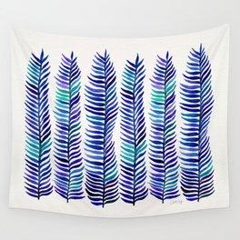 Indigo Seaweed Wall Tapestry