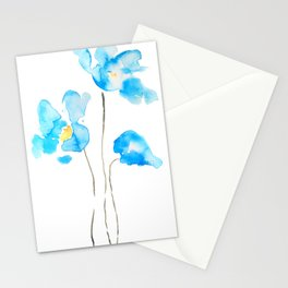 abstract Himalayan poppy flower watercolor Stationery Cards