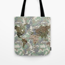 CAMO WORLD ATLAS MAP (camo) Tote Bag