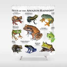 Frogs of the Amazon Rainforest Shower Curtain