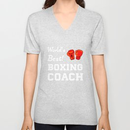 World's Best! Boxing Coach Appreciation T-Shirt Unisex V-Neck