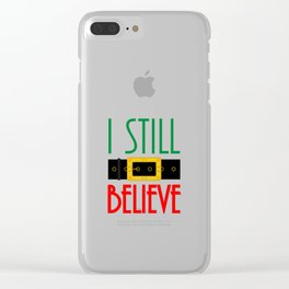 I Still Believe Santa's Belt Christmas Clear iPhone Case