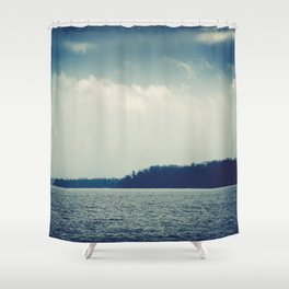 The Past Is Gone Shower Curtain
