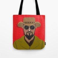 django Tote Bags featuring Django by Mohac
